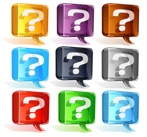 Colorful-Question-Mark-Vector-Set1